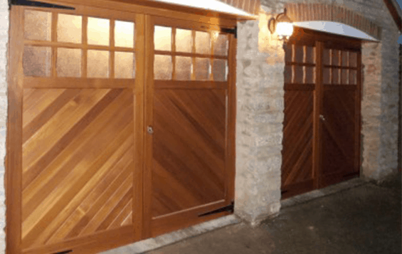 Traditional & modern side hinged garage doors Shrewsbury