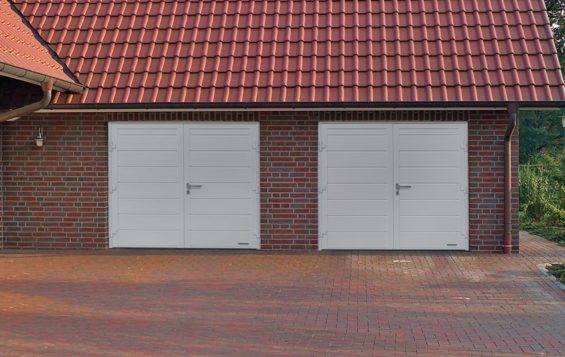 side hinged garage door Newport