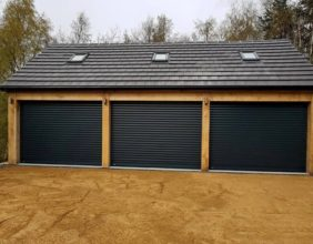 BLACK ROLLER SHUTTER garage doorMANCHESTER