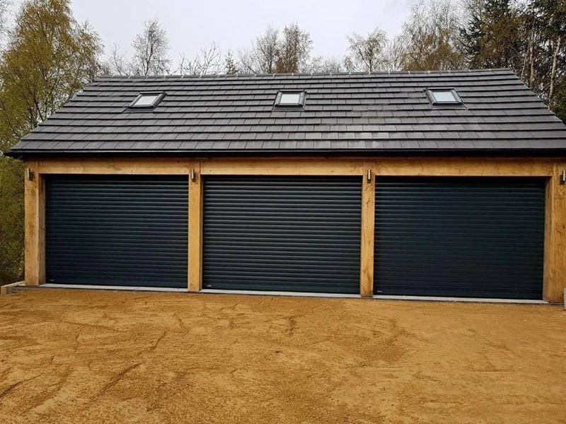 BLACK ROLLER SHUTTER garage doorMANCHESTER